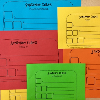 Sentence Cubes for Kids