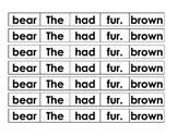 Sentence Cut Up - Bear brown fur