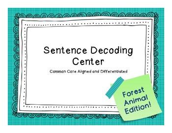 Sentence Decoding Center- Forest Animal Edition