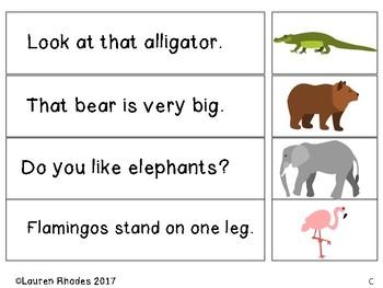 Sentence Decoding Center- Zoo Animal Edition