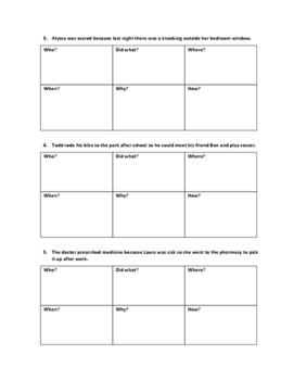 Sentence Deconstruction Worksheet