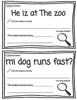 Sentence Detective Editing Practice