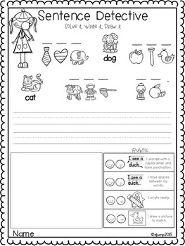 Sentence Detectives Alphabet and Sight Word Practice Fun 2