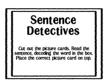 Sentence Detectives-I see a