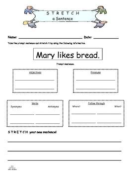 Sentence Development 2nd Grade