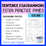 Sentence Diagramming Extra Practice Bell Ringers - Print &