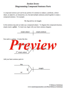 Sentence Diagramming Made Simple: Compound Sentence Parts