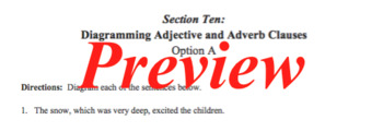 Sentence Diagramming Made Simple: Adjective and Adverb Clauses