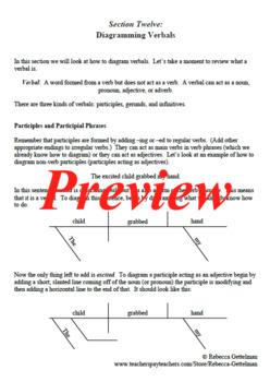 Sentence Diagramming Made Simple: Verbals
