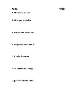 Sentence Diagramming Practice | Sentence Diagramming Practice By University Of Ms Furst Tpt