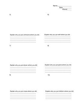 Sentence Diagramming Test