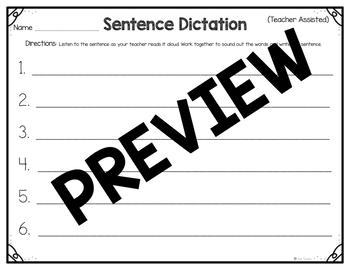 Sentence Dictation
