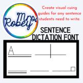 Sentence Dictation Font   Orton-Gillingham   Visual Cues f
