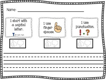 Sentence Dictation Paper with Rubric