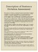 Sentence Dictation Writing Assessment Bundle