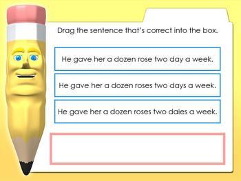 Sentence Edit - Singular to Plural Smartboard