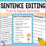 Sentence Editing / Correcting - Printable & Digital