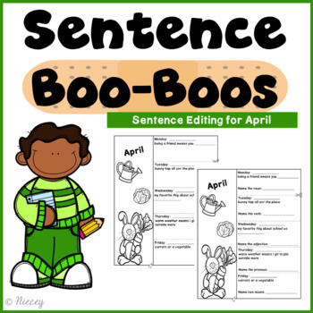 Sentence Editing Boo-Boos for April