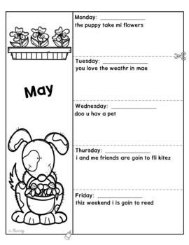 Sentence Editing Boo-Boos for May