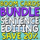 Sentence Editing Boom Cards (Digital Task Cards) BUNDLE