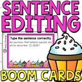Sentence Editing Boom Cards (Digital Task Cards) Facts abo