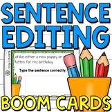 Sentence Editing Boom Cards (Digital Task Cards) for Grade