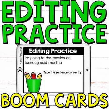 Sentence Editing Boom Cards (Digital Task Cards)