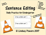 Sentence Editing Daily Practice for Kindergarten