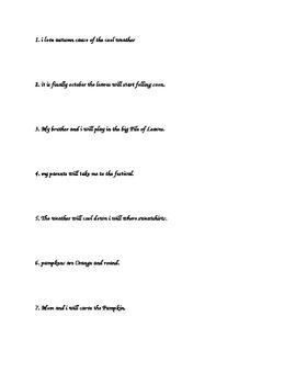 Sentence Editing--ELA, Writing
