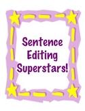 Sentence Editing Superstars
