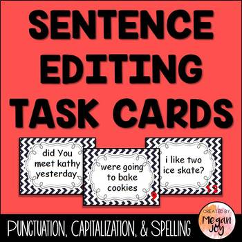 Sentence Editing Task Cards