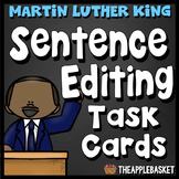 Sentence Editing Task Cards for Third Graders (Martin Luther King Jr. Facts)