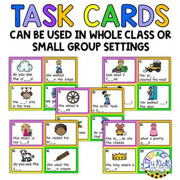Sentence Editing Task Cards (ou and ow Words) for First and Second Graders