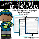 Sentence Editing- Winter Theme