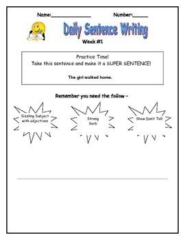 Sentence Elaboration Daily Writing