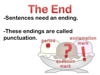 Sentence Endings - Punctuation Marks