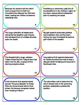 Sentence Error Task Cards By Let S Get Literature Tpt