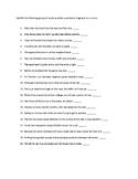 Sentence Error Worksheet