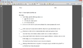 Sentence Errors Worksheet--comma splices, run-ons, & fragments