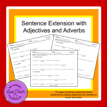 Sentence Extension Practice and Assessment