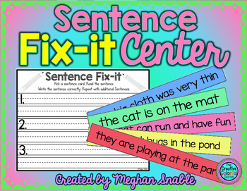 Sentence Fix-It Center