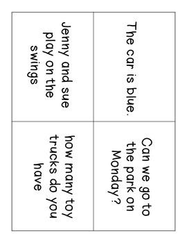 Sentence Fix-It Center and Worksheet