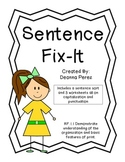 Sentence Fix-It Center and Worksheet