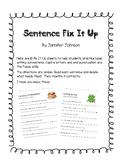 Sentence Fix It Up