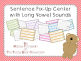 Sentence Fix-Up Center With Long Vowel Sounds
