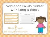 Sentence Fix-Up Center With Long u Words