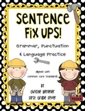 Sentence Fix-Ups! {Grammar, Punctuation, Language & Handwriting Practice}