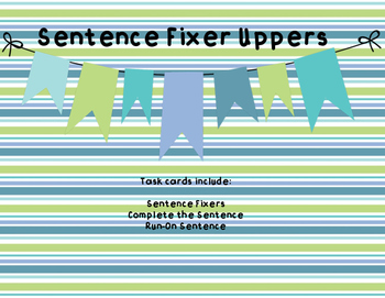 Sentence Fixer Uppers