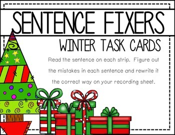 Sentence Fixers: Holiday Task CArds