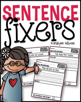 Sentence Fixers for Grammar, Sight Words and Writing